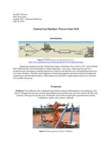 Natural Gas Pipelines: Process from Well