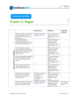 Chapter 11 Curriculum grid