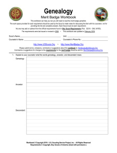 Genealogy - Merit Badge - US Scouting Service Project