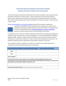Community Business Readiness Assessment Checklist