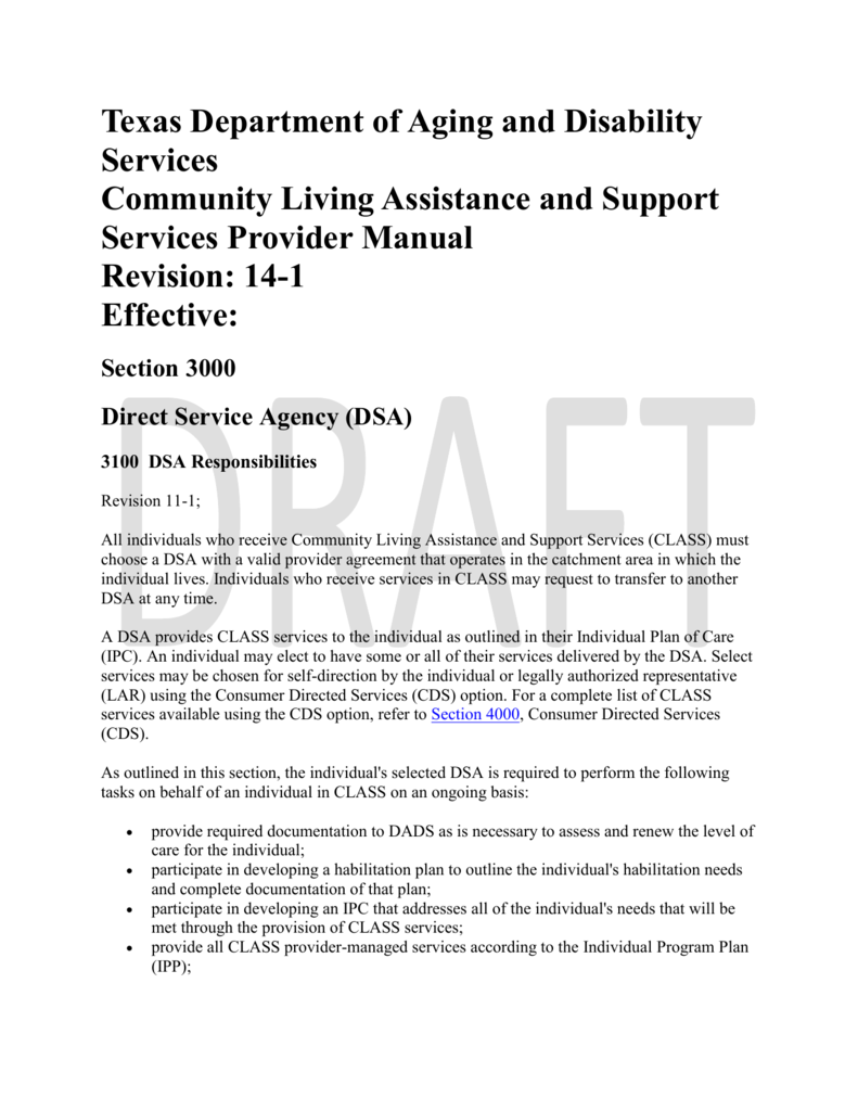 Direct Services Agency Texas Department Of Aging And Disability
