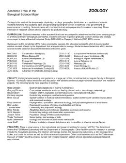 net zoology syllabus