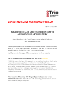 Trio Accountancy – Autumn Statement Commentary