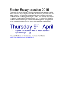 Thursday 9th April - EGAPhilosophy