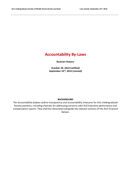 Accountability Bylaws - Arts Undergraduate Society of McGill