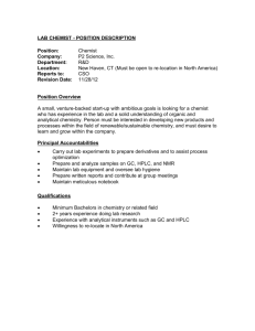 lab chemist - position description