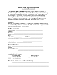 Baldwin County Cattlemen`s Association Scholarship Requirements