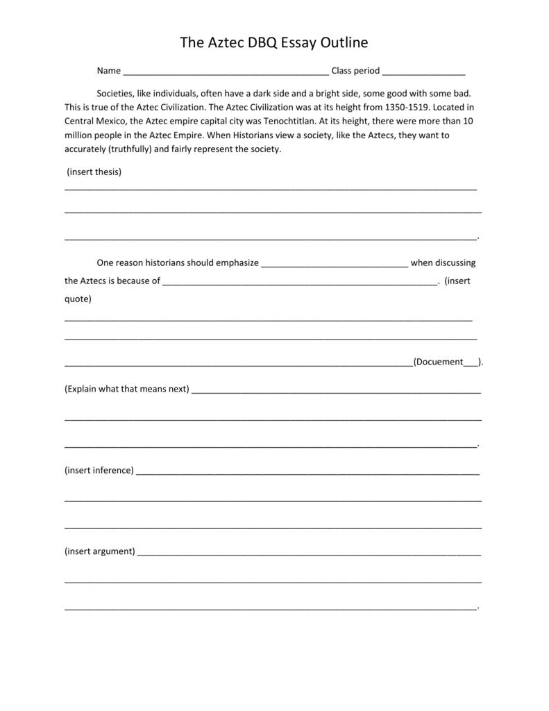 Dbq thesis help