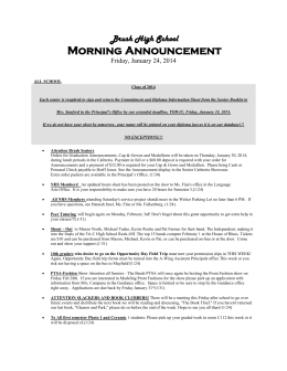 Brush High School Morning Announcement