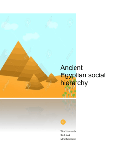 Ancient Egyptian social hierarchy