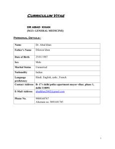 Social Science Abstracts - Aligarh Muslim University