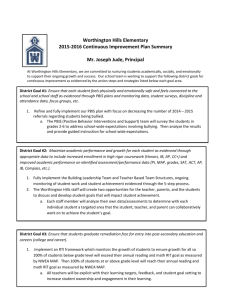CIP Summary Sheet - Worthington Schools
