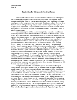 Protection for Children in Conflict Zones