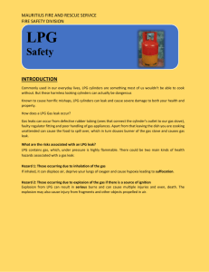 Safety Tips for LP Gas - Mauritius Fire and Rescue Service