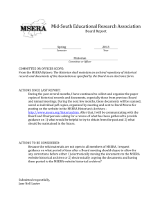 Mid-South Educational Research Association Board Report Spring