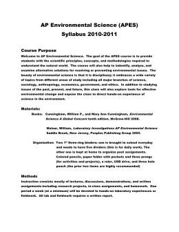 environmental science i syllabus 3 contents 1 minutes of the final meeting of ncrc 6 2 programmes in environmental science 12 3 scheme of studies for (4-year) bs in environmental science.