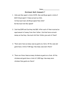 Name___________________ Enrichment Math Homework 7 John