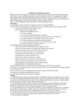 Guidelines for the dialectical journal dialectical journal altavistaventures Gallery