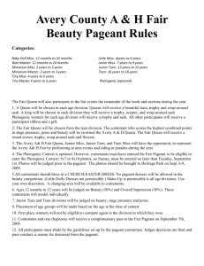 Beauty Pageant Rules