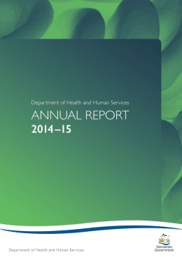 2014 - 2015 DHHS Annual Report