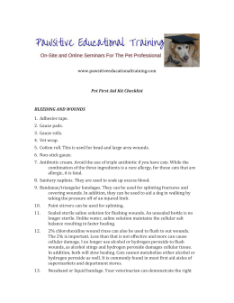 www.pawsitiveeducationaltraining.com Pet First Aid Kit Checklist