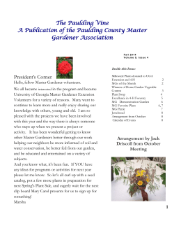 The Paulding Vine A Publication of the Paulding County Master