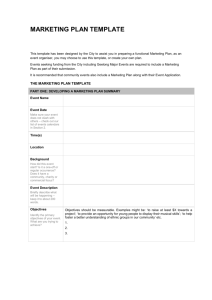 Template for an Events Marketing Plan