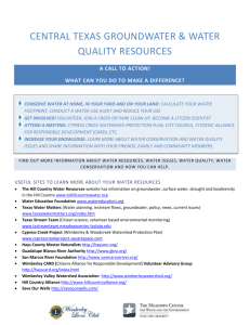 April Water Resource Guide
