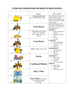 2 year old lesson plan for week of 04/25