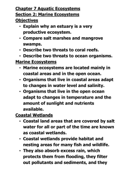 NOTES: Chapter 7.2 - Marine Ecosystems