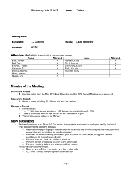 UVTC Board Meeting Minutes June 2015