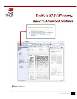 EndNote_X7.3_2015_CS.. - Lane Medical Library Digital Document