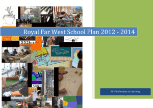 School Plan (draft) - Royal Far West School