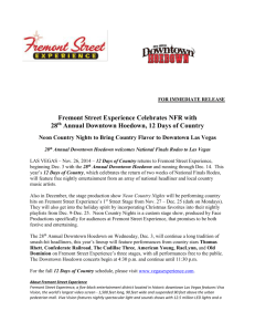 Fremont Street Experience Celebrates NFR with 28th Annual