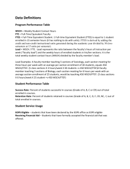 Data Definitions Program Performance Table