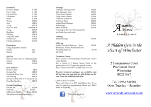 our full price list - Amanda Attwood Beauty Clinic in Winchester
