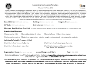 Leadership Equivalency Template