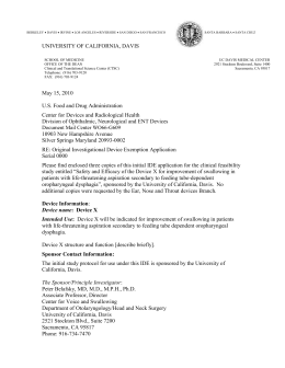 Example of a Cover Letter - UC Davis Health System