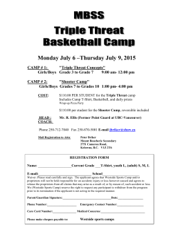 Mount Boucherie Triple Threat Basketball summer camp 2015