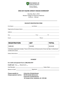 Equine airway disease workshop registration form