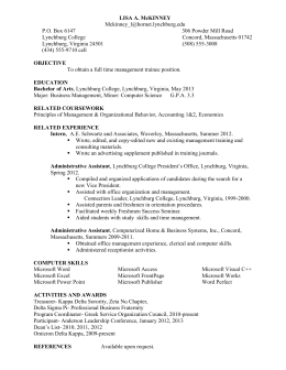 Resume sample (Word doc)