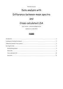 Cross-calculated LDA