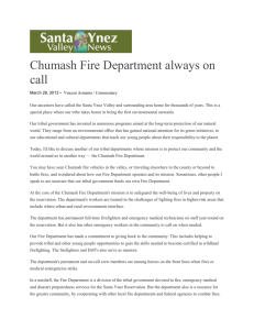 Chumash Fire Department Always on Call