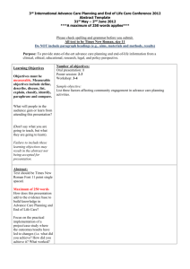 Abstract Template - International Society of Advance Care Planning