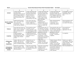 Name: Ancient China Research Power Point Presentation Rubric