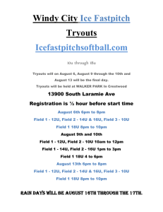 Windy City Ice Fastpitch Tryouts
