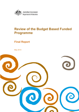 (BBF) Programme Review Final Report May 2014