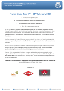 France Study Tour Booking Form