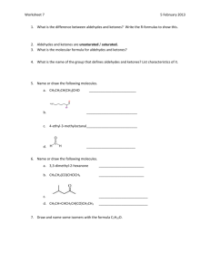 Worksheet 7 - Chemistry 107 SI