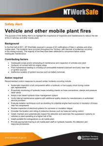 Safety alert - Vehicle and other mobile plant fires